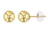 14k Yellow Gold Hollow Ball Stud Earrings 6.0mm