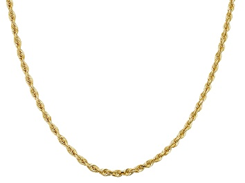 Picture of 10k Yellow Gold Hollow Rope Chain Necklace 18 inch 2.7 Mm