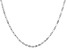 14k White Gold Clover Link Chain Necklace 22 inches