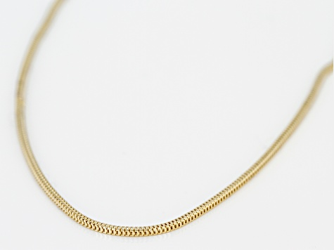 14k Yellow Gold Franco Link Chain Necklace 18 inch