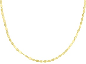 10k Yellow Gold Pirouette Link Chain Necklace 20 inch