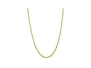 10K YELLOW GOLD 3.35MM DIAMOND-CUT QUADRUPLE ROPE CHAIN 22 INCHES