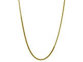 10k Yellow Gold 3mm Silky Herringbone Chain 16 inches