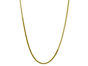10k Yellow Gold 3mm Silky Herringbone Chain 18 inches