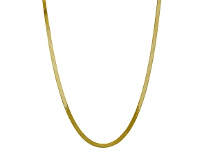 10k Yellow Gold 5mm Silky Herringbone Chain 24 inches