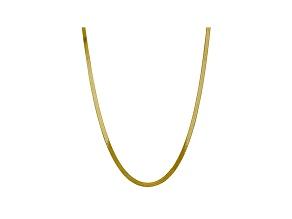 10k Yellow Gold 5mm Silky Herringbone Chain 24 inches