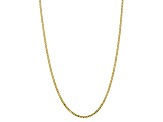 10k Yellow Gold 2.9mm Flat Beveled Curb Chain 18 inches