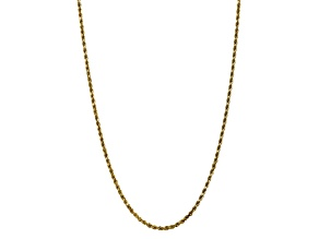 10k Yellow Gold 3.5mm Diamond Cut Rope Chain 18 inches