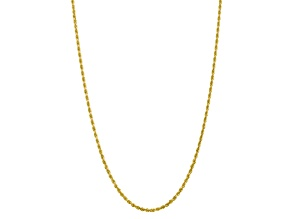 10k Yellow Gold 3.35mm Diamond-Cut Quadruple Rope Chain 30 inches