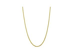 10k Yellow Gold 3.35mm Diamond-Cut Quadruple Rope Chain 30 inches