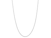10k White Gold 1.75mm Diamond Cut Rope Chain 24 inches