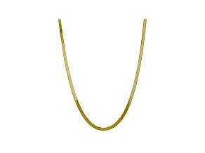 10k Yellow Gold 5mm Silky Herringbone Chain 18 inches