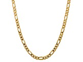 10k Yellow Gold 7.5mm Concave Figaro Chain 20 inches