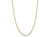 10k Yellow Gold 2.9mm Flat Beveled Curb Chain 16 inches