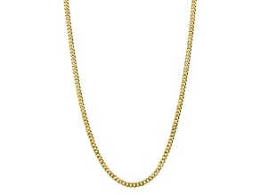 10k Yellow Gold 5.75mm Flat Beveled Curb Chain 22 inches