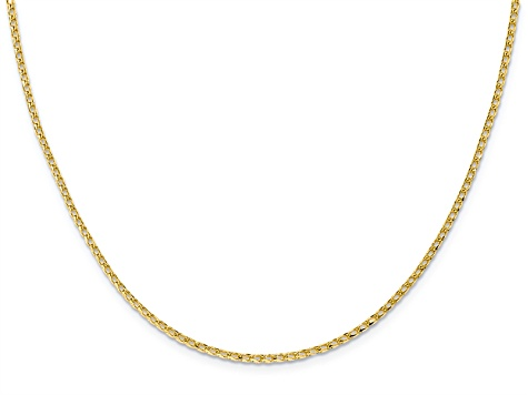 10k Yellow Gold 1.6mm Diamond-Cut Open Franco Chain 24 inches