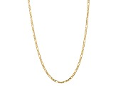 10k Yellow Gold 4mm Concave Figaro Chain 22 inches