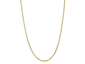 10k Yellow Gold 3mm Concave Mariner Chain 22 inch