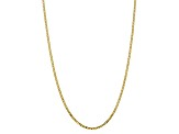 10k Yellow Gold 2.9mm Flat Beveled Curb Chain 20 inches