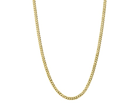 10k Yellow Gold 5.75mm Flat Beveled Curb Chain 18 inches