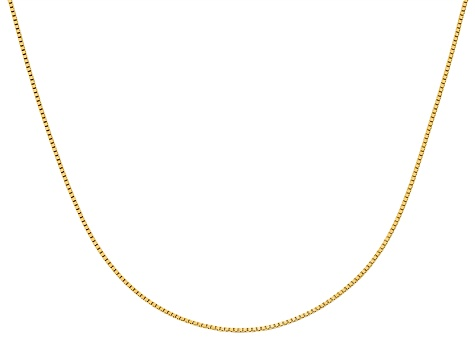 10k Yellow Gold .9mm Adjustable Box Chain 30 inches
