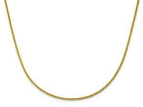 10k Yellow Gold 1.35mm Adjustable Wheat Chain 22 inches