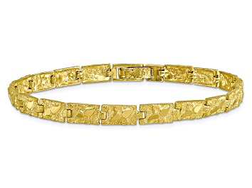 Picture of 10k Yellow Gold 6mm Nugget Bracelet 8 inches