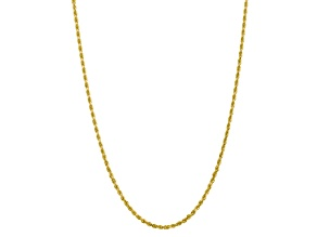 10k Yellow Gold 3.35mm Diamond-Cut Quadruple Rope Chain 18 inches
