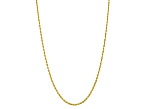 10k Yellow Gold 3.35mm Diamond-Cut Quadruple Rope Chain 20 inches