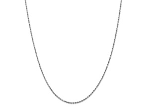 10k White Gold 1.75mm Diamond Cut Rope Chain 20 inches