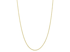 10k Yellow Gold 1.75mm Diamond Cut Rope Chain 18 inches