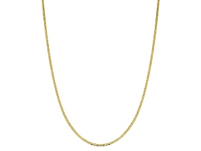 10k Yellow Gold 2.4mm Flat Anchor Chain 16 inches