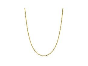 10k Yellow Gold 2.4mm Flat Mariner Chain 16 inch