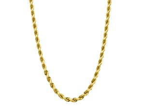 10k Yellow Gold 8mm Handmade Diamond-Cut Rope Chain 22 inches