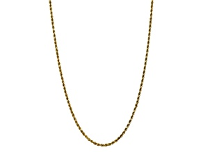 10k Yellow Gold 3.5mm Diamond Cut Rope Chain 22 inches