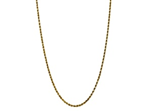 10K YELLOW GOLD 3.5MM DIAMOND CUT ROPE CHAIN 24 INCHES