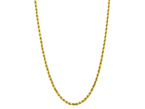 10k Yellow Gold 5mm Diamond Cut Rope Chain 22 inches