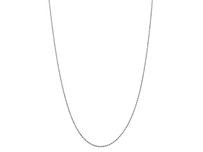 10k White Gold 1.75mm Diamond Cut Rope Chain 30 inches