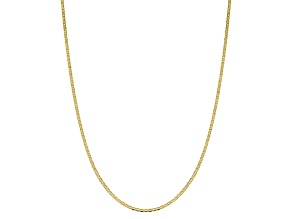 10k Yellow Gold 2.4mm Flat Anchor Chain 18 inches