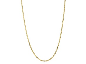 10k Yellow Gold 3mm Concave Anchor Chain 16 inches