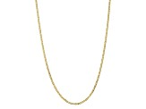 10k Yellow Gold 3mm Concave Mariner Chain 16 inch