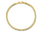10k Yellow Gold 2.9mm Flat Beveled Curb Bracelet 7 inches