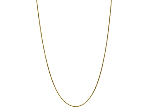 10k Yellow Gold 1.65mm Solid Polished Spiga Chain 30 inches