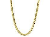 10k Yellow Gold 8.25mm Flat Beveled Curb Chain 20 inches