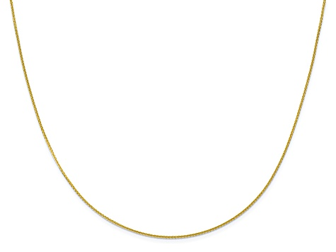 10k Yellow Gold 1mm Adjustable Wheat Chain 22 inches