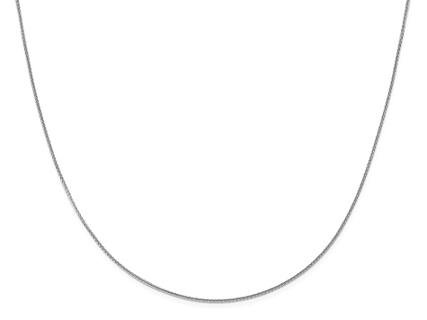 10k White Gold 1mm Adjustable Wheat Chain 22 inches