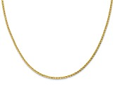 10k Yellow Gold 1.6mm Diamond-Cut Open Franco Chain 16 inches
