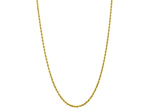 10k Yellow Gold 3.35mm Diamond-Cut Quadruple Rope Chain 24 inches