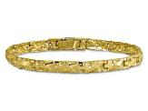 10k Yellow Gold 4mm Nugget Bracelet 7 inches