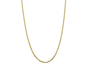 10k Yellow Gold 2.9mm Flat Beveled Curb Chain 22 inches